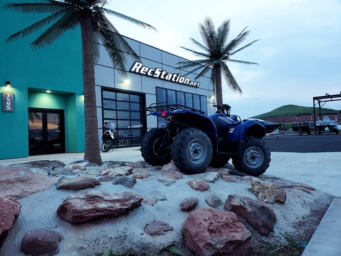 Front with four wheeler on rocks